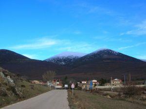 Road towards Cueva de Agreda (Spain)