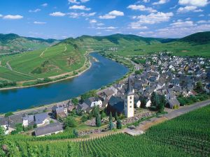 The Moselle river to passing by Bremm
