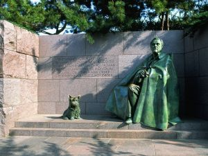 Statue at the Franklin Delano Roosevelt Memorial