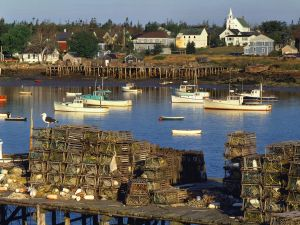 Fishing harbor in Maine