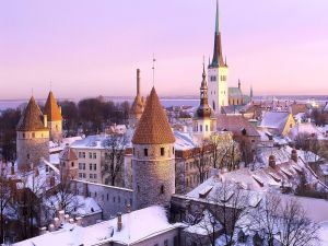 A cold day in Tallinn, Estonia