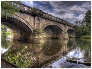 A great stone bridge over the river