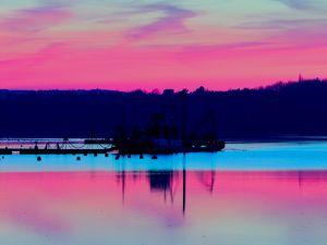 Fishing at nightfall