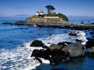 Lighthouse Battery Point Light, in California