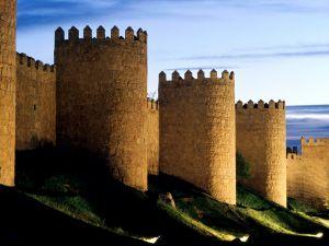 The wall of Avila, Spain