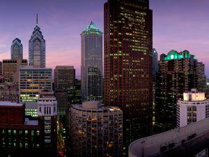 Lights in the buildings of Philadelphia