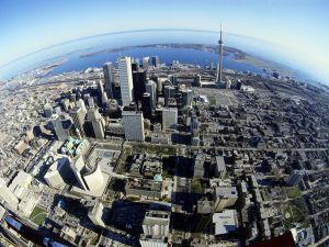 Bird eye view of the city of Toronto