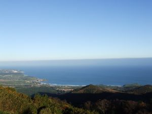 View of the Cantabrian sea and the coast of Asturias