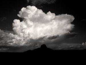 White cloud on dark sky