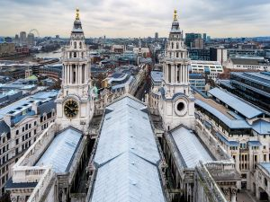 The towers of the Cathedral of St. Paul, London
