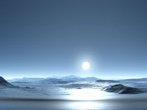 The light of the full moon