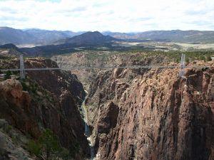 A long bridge in the mountains