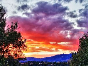 Colors in the sky and in mountains