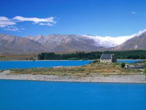 The Lake Tekapo and the Church of the Good Shepherd (New Zealand)
