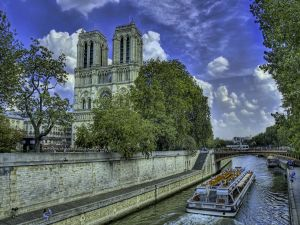 The Seine River and Notre Dame Cathedral
