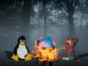 Linux burning to Windows