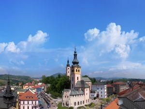 Blue sky in the village