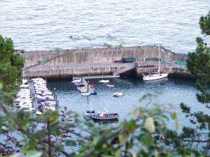 Port in the village of Lastres (Asturias)