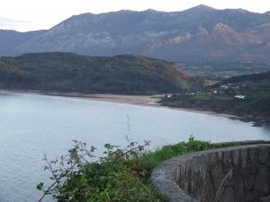 Views to Playa de la Griega in Colunga (Asturias)
