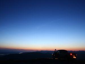 Car in a beautiful place
