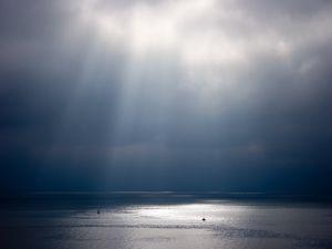 Illuminated ocean