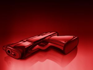 Red pistol