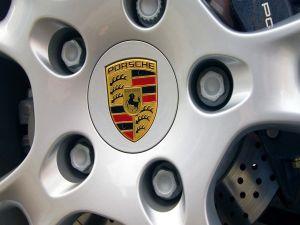 Wheel of a Porsche