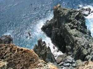 Vertigo on cliff