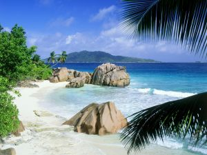 Beach at island La Digue, Seychelles