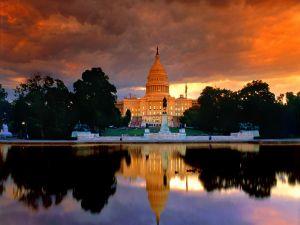 Sunset at the Capitol of Washington