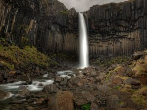 Big waterfall (Iceland)