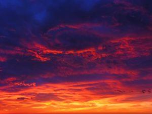 Dark and orange sky