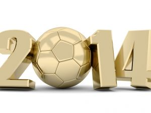 Football World  2014 in gold color