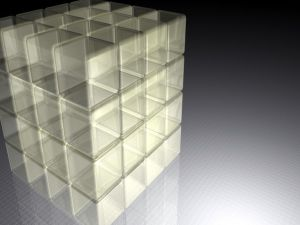 Transparent 3D cubes