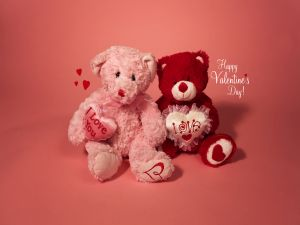 Teddy bears and Happy Valentine's Day