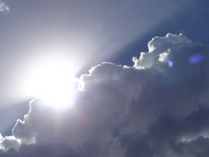 Cloud trying to cover the sun