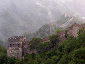 Fog on the Great Wall of China