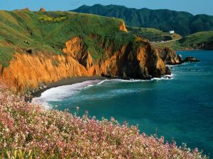 Beach at the cliff