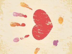 Fingerprints and a heart