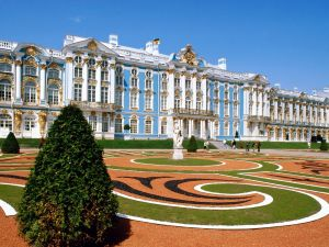 The Catherine Palace seen from the gardens