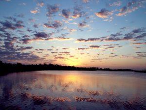 Beautiful sunset next the water