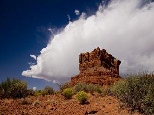 A big rock in the desert