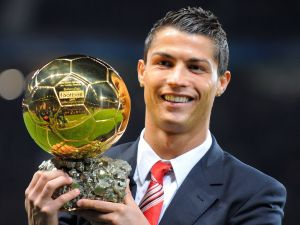 Cristiano Ronaldo with Ballon d'Or 2008