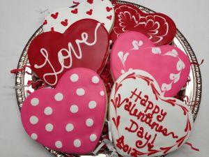 """Cookies """"Happy Valentine's Day"""""""