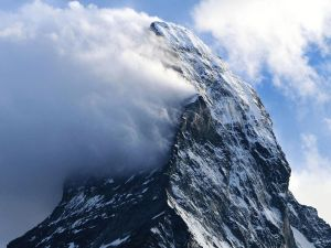 Typical orographic clouds on the Matterhorn