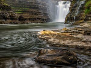 Waterfalls between the rocks