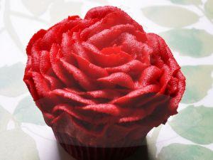 Cupcake of rose