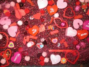 Hearts with messages for Valentine's