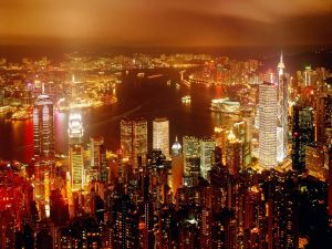 Lights in Hong Kong