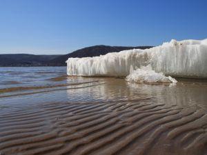 Ice crystals on the beach